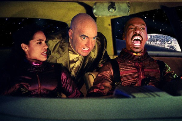 IN SPACE, NO ONE CAN HEAR YOU SUCK: Rosario Dawson, Randy Quaid and Eddie Murphy are trapped in the inanity known as The Adventures of Pluto Nash