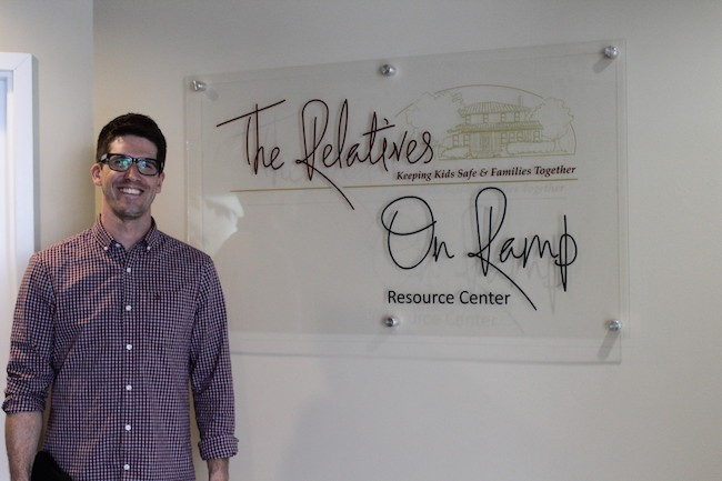 Jason Indenbaum, one of the case managers at The Relatives' On Ramp center. (Photo by Courtney Mihocik)