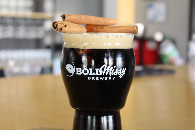 Solo Flight Brown Ale with cinnamon sticks. (Photo by Courtney Mihocik)