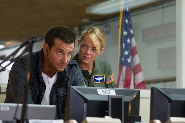 Bradley Cooper and Emma Stone in Aloha (Photo: Columbia)