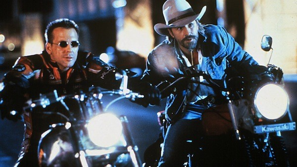 Mickey Rourke and Don Johnson in Harley Davidson and the Marlboro Man (Photo: Shout! Factory)