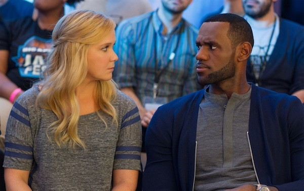 Amy Schumer and LeBron James in Trainwreck (Photo: Universal)