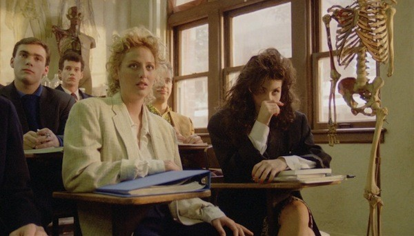Virginia Madsen, Paul Feig (right, partially blocked) and Sherilyn Fenn in Zombie High (Photo: Shout! Factory)