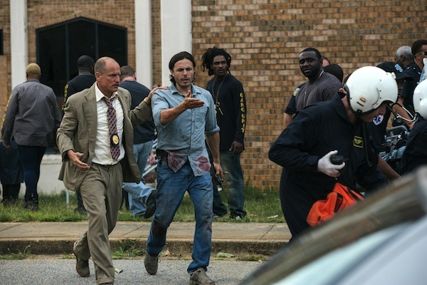 Woody Harrelson and Casey Affleck in Triple 9 (Photo: Open Road)