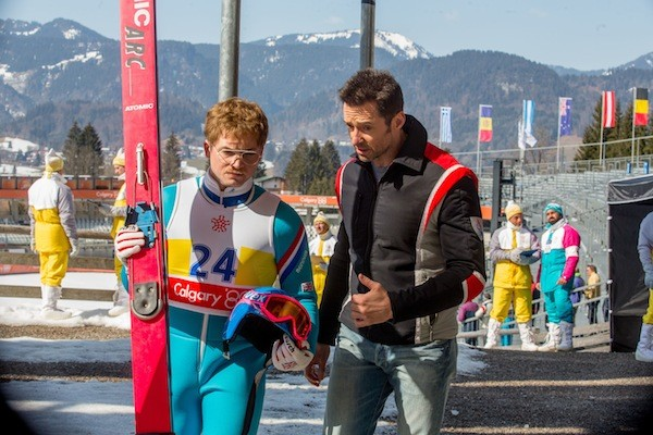 Taron Egerton and Hugh Jackman in Eddie the Eagle (Photo: Fox)