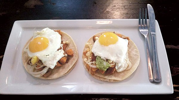 Huevos rancheros at Summit Coffee's Outpost. (Photo by Anita Overcash)