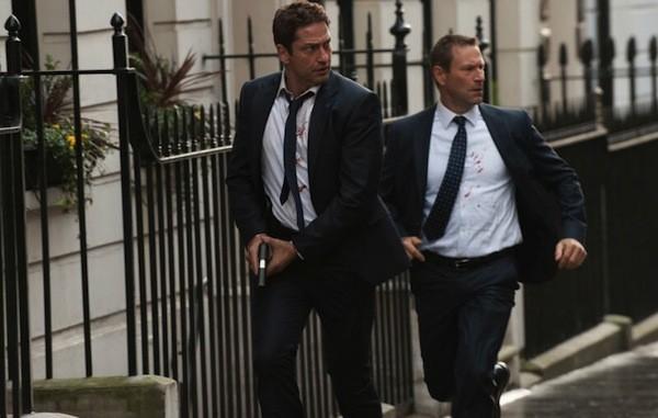 Gerard Butler and Aaron Eckhart in London Has Fallen (Photo: Universal)