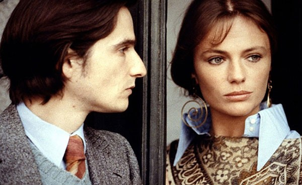 Jean-Pierre Léaud and Jacqueline Bisset in Day for Night. (Warner Bros.)