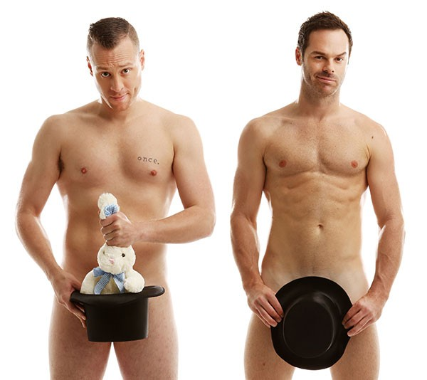 Chris Wayne (left) and Mike Tyler of The Naked Magic Show.