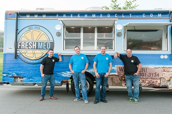 The FreshMed crew, including Tyler Lee (third from left). (Photo credit: Katherine Elena Photography)