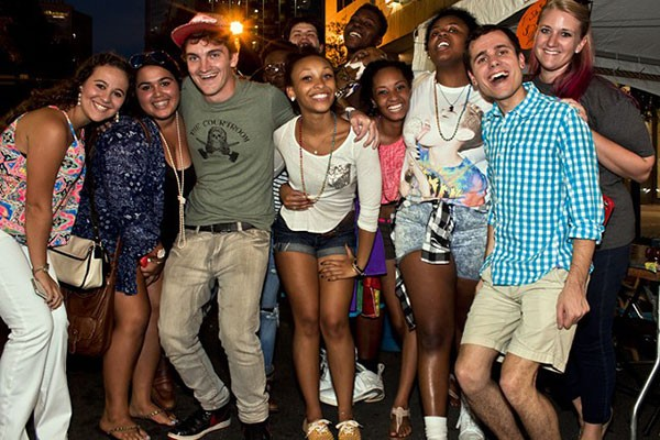 Revelers at 2014 Pride Week in Charlotte.