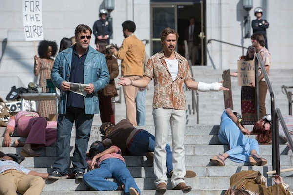 Russell Crowe and Ryan Gosling in The Nice Guys (Photo: Warner)