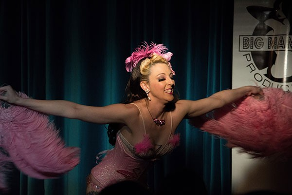 Ophelia PopTart of Big Mammas House of Burlesque at an UpStage performance in April. (Photo by Eric Cutchin)