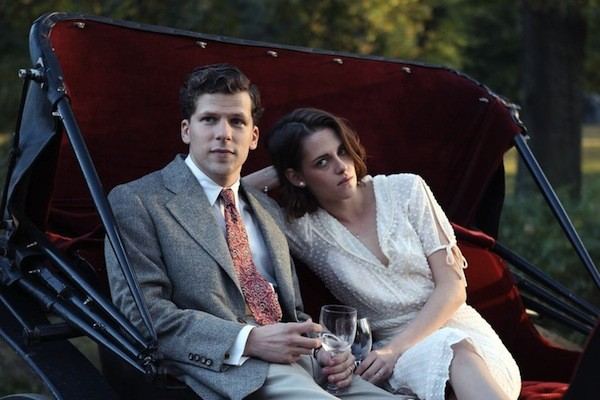 Jesse Eisenberg and Kristen Stewart in Cafe Society (Photo: Lionsgate)