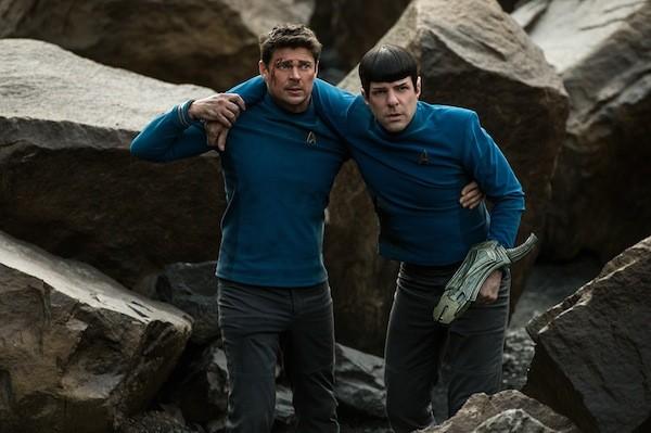 Karl Urban and Zachary Quinto in Star Trek Beyond (Photo: Paramount)