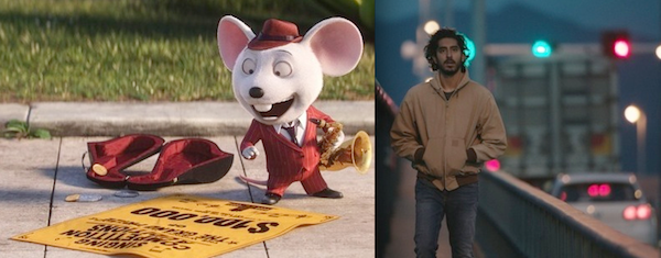 Sing and Dev Patel in Lion (Photos: Sing: Universal; Lion: Weinstein Co.)