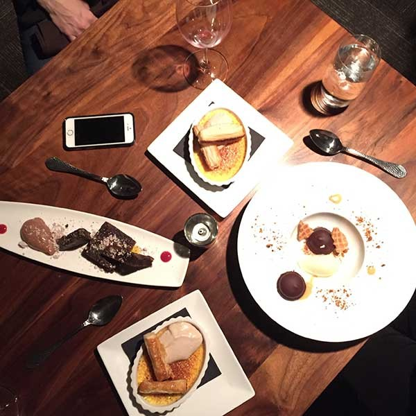 Dessert dishes at Passion8. - CHRISSIE NELSON