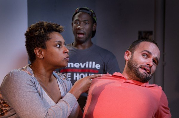 Ericka Ross, Kevin Aoussou and Stephen Seay in 'Eat the Runt.' (Photo by Chuck Bludsworth0