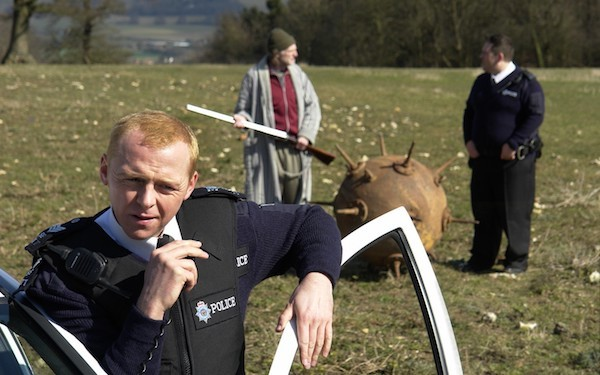 Simon Pegg in Hot Fuzz (Photo: Universal)