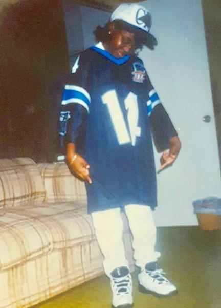 Little Kia as a teen hip-hop warrior.
