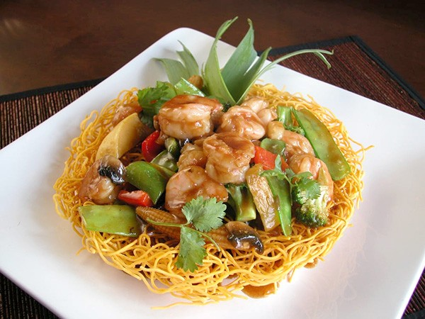 Mongolia Crispy Fried Noodle at Zen Fusion.