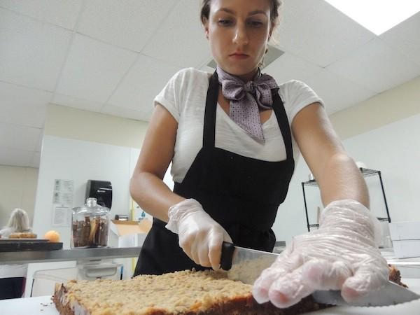 Gabija Janceviciute of La Piccola Gabbia working in her bakery.