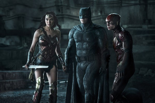 Gal Gadot, Ben Affleck and Ezra Miller in Justice League (Photo: Warner & DC)