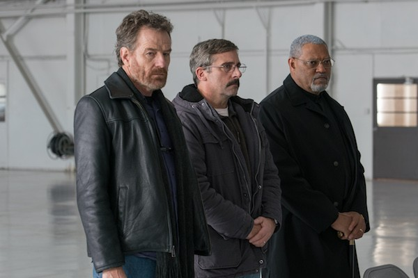 Bryan Cranston, Steve Carell and Laurence Fishburne in Last Flag Flying (Photo: Lionsgate & Amazon Studios)