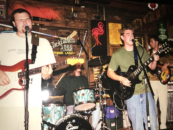 Static, Smokey Joe's house band circa 1998, was Josh Daniel (from left), Chris Garges, Dan Hood and Flavio Mangione. (Photo by Rachael Mangione)