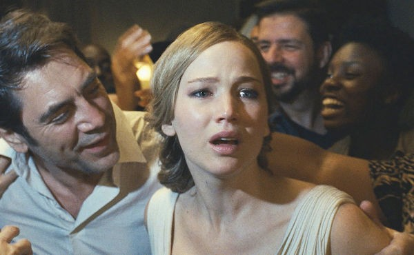 Javier Bardem and Jennifer Lawrence in mother! (Photo: Paramount)