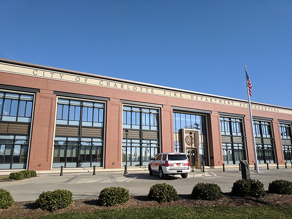 The CFD headquarters, recently built on North Graham Street.