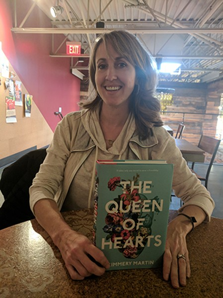 Kimmery Martin with her debut novel, 'The Queen of Hearts.' (Photo by Ryan Pitkin)