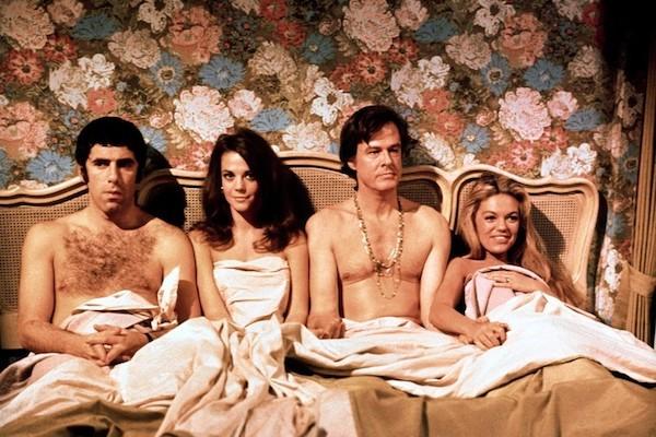 Elliott Gould, Natalie Wood, Robert Culp and Dyan Cannon in Bob & Carol & Ted & Alice (Photo: Twilight Time)