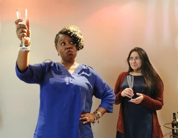 Shar Marlin [left] as Liz Rico in 'King Liz.'