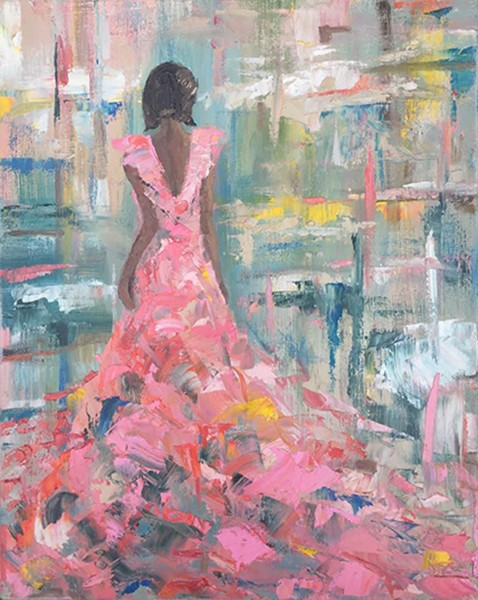 "Anne Rufty, ""Pink Gown"""