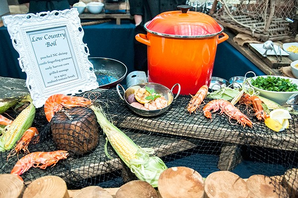 A Low Country Boil from last year's events. (Photo by Jon Hayworth)