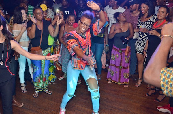 Dancers get busy during a September AfroPop Charlotte party at Morehead Tavern. (Photo courtesy of AfroPop! Nation)