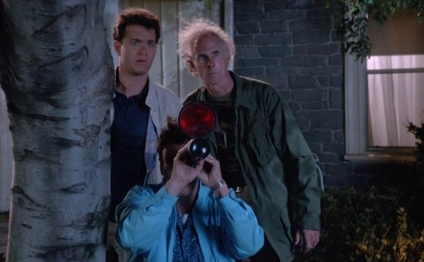 Tom Hanks, Bruce Dern and Rick Ducommun (front) in The 'Burbs (Photo: Shout! Factory)