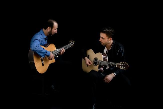 The VS Guitar Duo: Vadim (left) and Sasha Kolpakov (PhotochemistryByLuba)
