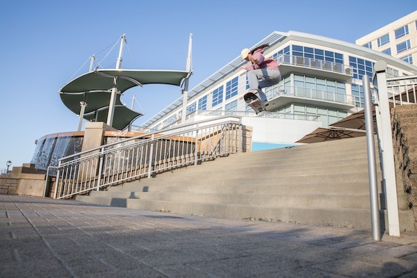 Martin gaps some steps in Charlotte. (Photo by Brian Twitty)