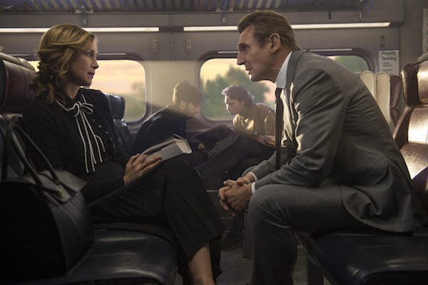 Vera Farmiga and Liam Neeson in The Commuter (Photo: Lionsgate)