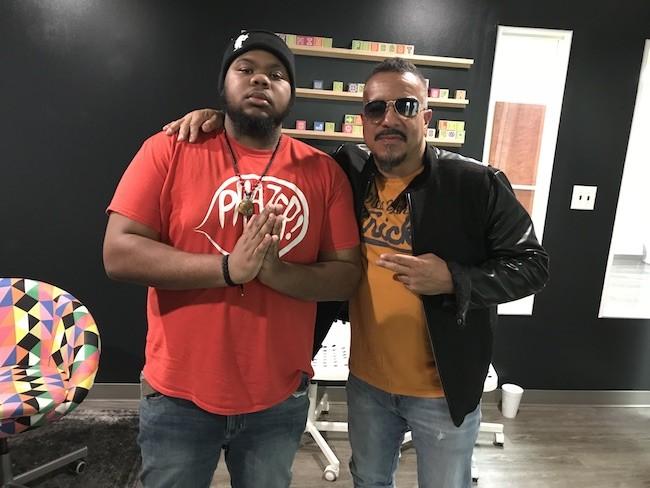 Generational rap summit: Tony P. (aka Phaze Gawd) meets legendary C+C Music Factory rapper Freedom Williams.