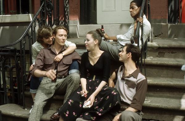 Dori Brenner, Christopher Walken, Ellen Greene, Lenny Baker and Antonio Fargas (background) in Next Stop, Greenwich Village (Photo: Twilight Time)