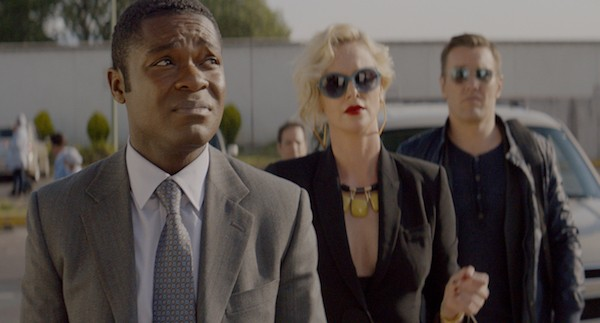 David Oyelowo, Charlize Theron and Joel Edgerton in Gringo (Photo: Universal)