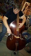 Shaughnessy on the bass (Photo by Carl Taylor)
