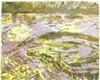 <i>Duke Energy's Dan River VII, oil and glass bead on panel, 8 1/8 x 10 1/8 x 1 in., 2016.</i>