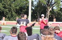 Surprise Celebration Honored Davidson College Football Player George Hatalowich for Leadership and Service