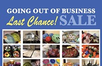 Last Chance Going Out OF Business Sale