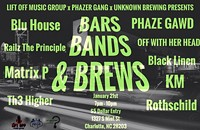 Bars Bands and Brews @ Unknown Brewing