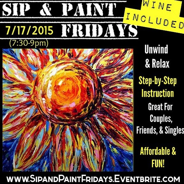 Sip paint fridays includes complimentary wine lesson for Sip and paint charlotte nc